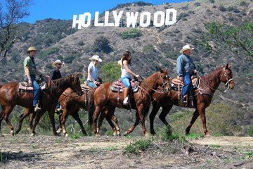 Horseback Riding near the Hollywood Sign with Transportation from Anaheim area