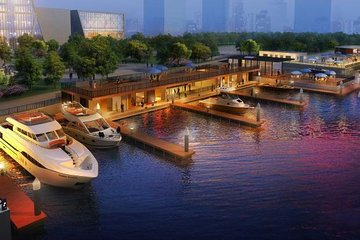 Shanghai Huangpu River Charter Yacht Experience with Champagne or Beer