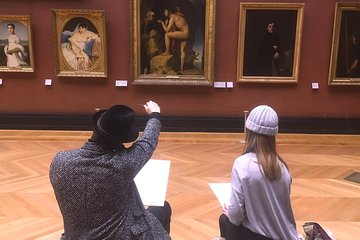 Drawing in the Louvre with an artist