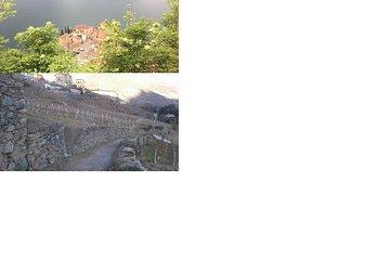Il lago di Como e i muri a secco
