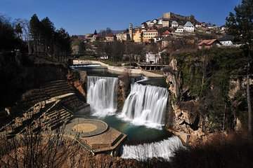 Jajce with Pliva watermills and...