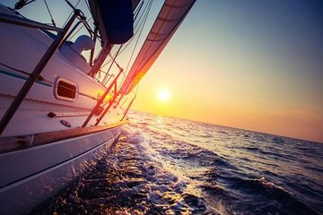 Sunset sailing cruise in Thassos