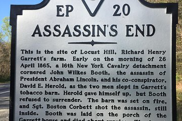 Private John Wilkes Booth Escape Tour in Washington DC by Luxury Car