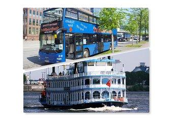 Hamburg Combo: Hop On Hop Off & Water Ticket / Harbor Cruise