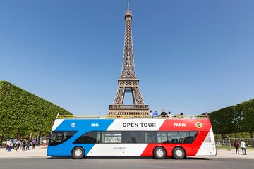 Open Tour Paris Hop on Hop off Sightseeing Bus with Audio Commentary