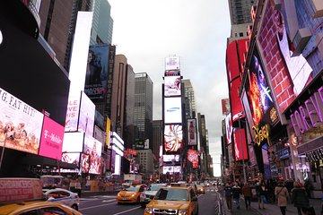 Double Decker Hop-On-Hop-Off Bus and Times Square Dining Experience