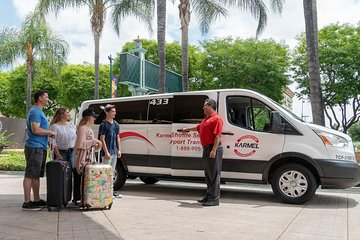Shared LAX Airport Arrival Transfer to Anaheim, Buena Park or Garden Grove