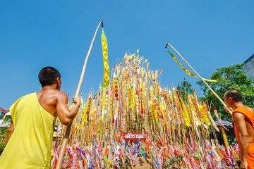 Songkran Festival Water Battle & Wat...