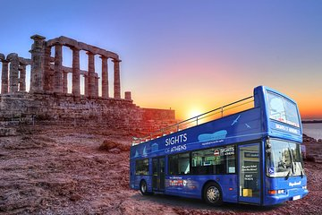 Athens Blue Hop-on-Hop-off Bus and Cape Sounion Sunset Tour