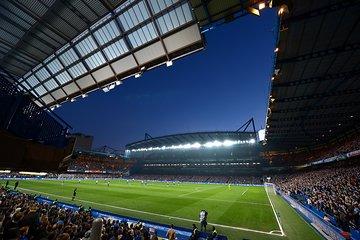 Chelsea Football Match at Stamford Bridge Stadium
