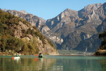 Canoeing Mezzola Lake, Italian Alps