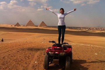 Pyramids Of Giza Adventure Tours on ATV Quad bike ride in desert