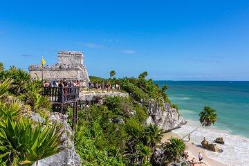 3-in-1 Discovery Combo Tour: Tulum Ruins, Reef Snorkeling Plus Cenote and Caves