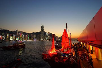 Hong Kong Night Junk Cruise with Authentic Cantonese Dim Sum Experience