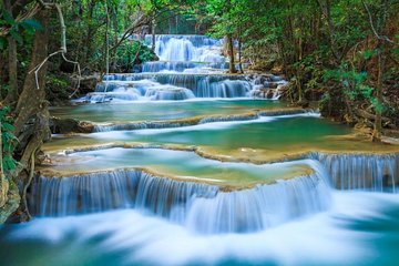 Erawan Waterfalls-Death Railway & River Kwai Tour