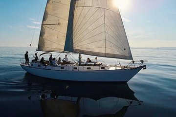 Sailing Barcelona on a classic boat