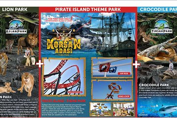 Triple Fun in Istanbul - Pirate Island Theme Park + Aquarium + Lion Park