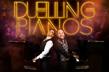 Duelling Pianos night at a hidden bar in Soho