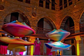 Cairo by night including Tanoura Show at Wikalet Al Ghouri Khan El Khalili Tahrir Square