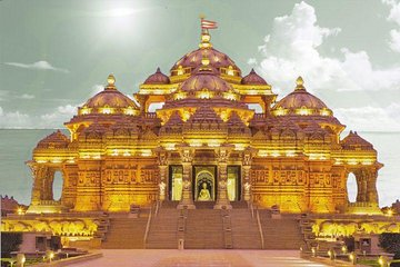 Akshardham Temple Tour Exhibition, Light and Water Show with Transfers