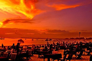 Bali Jimbaran Beach Golden Bay Restaurant Seafood Dinner