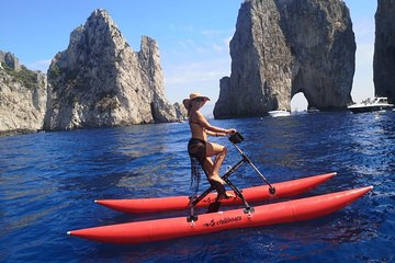 The coast of Naples by water bike