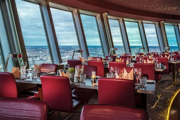 Berlin TV Tower: Skip-the-Line Ticket with 2-Course Lunch