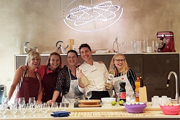 Italian Cocktail+Art of Making Homemade Pasta Cooking Class In Unique Location