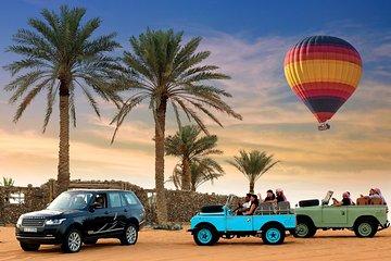 Dubai per luchtballon inclusief culinair ontbijt en demonstratie met valken