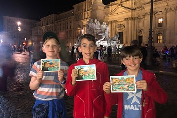 Rome by Night Tour for Kids & Families with Pizza & Gelato Tasting