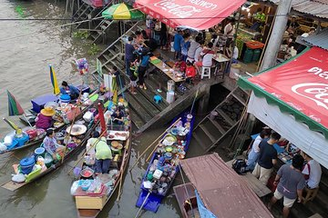 Amphawa Floating & Maeklong Railway Market Day Tour by SBK Day Tour With Lunch