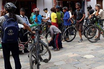 Kathmandu sykkeltur - en dag