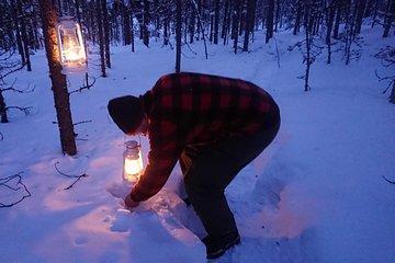 Gold Finding Game nel villaggio di Inari, in Finlandia