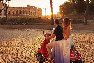 Private Rome by Night Vespa Tour