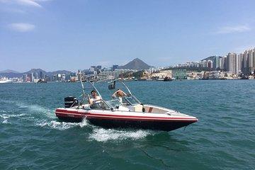 Beginner/Advance - Speedboat wakeboarding pick up at Sai Kung Public Pier