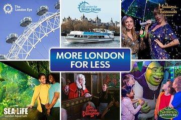 Big Adventures 6 Attraction Ticket Including Madame Tussauds, SEA LIFE Aquarium, London Eye, Shrek's Adventure! London and The London Dungeon