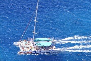 Crociera in catamarano di un'intera giornata a Benagil, Ponta da