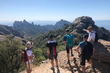 Hike to Top of Montserrat Mountain, Sant Jeroni. Small Group, from Barcelona.