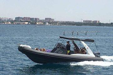 Semi - Private Rib Cruise in Riviera Athens with Greek Souvlaki and drinks