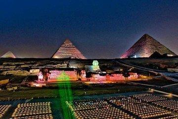 Night Tour to Giza Pyramids Sound & Light Show With Private Transfers