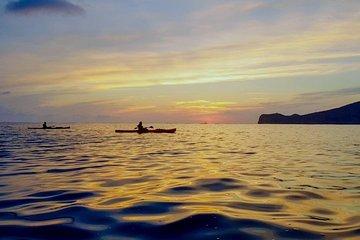 Con el kayak de Sant Elm en la puesta del sol - picnic incluido