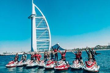30 Mins Jet Ski Tour Burj al Arab and Burj Khalifa, Dowtown Dubai