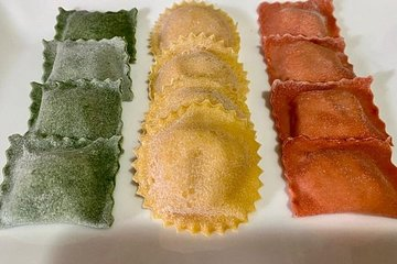 Colorful Fettuccine and Ravioli class - Online Class