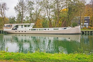 Day Cruise on Belgian Canals with a converted barge