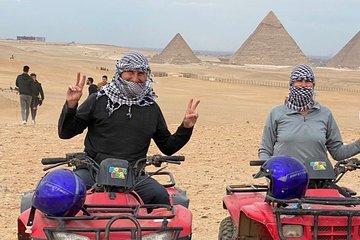 Desert Safari by Quad Bike Around Pyramids enjoying Sunset or Sunrise
