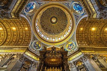 The Original St. Peter's Dome Climb, Basilica & Vatacombs