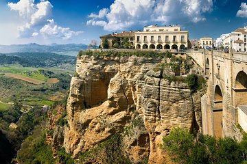 Private Day Trip to soaring over the abyss Ronda city & the white village Mijas