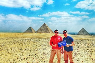 Save 10.00%! 12 Hrs Giza Pyramids, Sphinx, Egyptian museum, Market, Dinner cruise