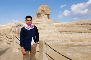 Save 10.00%! Tour to Giza Pyramids Egyptian Museum Sphinx 45 minute camel ride