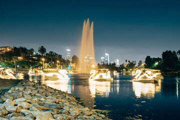 Swan Boat Night Ride at Echo Park Lake